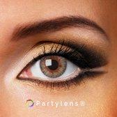 Kleurlenzen 'Clear Grey' jaarlenzen inclusief lenzendoosje - grijze contactlenzen Partylens®