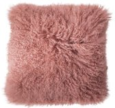 Bloomingville kussen in schapenwol roze