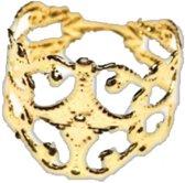 Teenring verstelbaar- 15 mm- goudkleurig