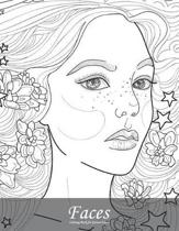 Faces Coloring Book for Grown-Ups 6