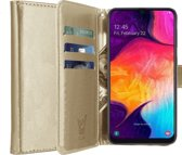 Samsung Galaxy A50 Hoesje - Book Case Portemonnee - iCall - Goud