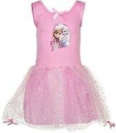 Frozen Elsa/Anna roze jurk maat 92/98