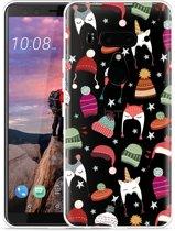HTC U12 Plus Hoesje Winter Hats
