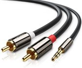 Ugreen 10584 2m 2 x RCA 3.5mm Zwart audio kabel