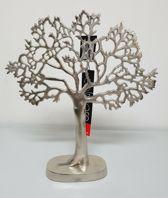 Levensboom - Ruw Nikkel - 39 x 43 cm