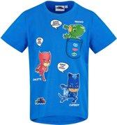 PJ-Masks-T-shirt-met-korte-mouw-blauw-maat-104