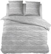 Snoozing Manon - Dekbedovertrek - Lits-jumeaux - 270x200/220 cm + 2 kussenslopen 65x65 cm - Grey