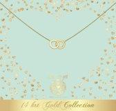 Heart to Get 14 Karaat Gouden Double Karma Rings Ketting NG12DOU18