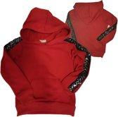 Rode meisjes trui met bies 122/128