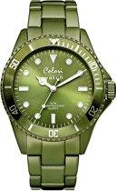 Colori Aluminium 5 COL235 Horloge - Aluminium Band - Ø 40 mm - Groen