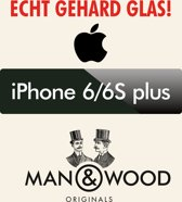 Man & Wood Screenprotector / Schermbescherming ECHT GEHARD GLAS (Tempered Glass) - iPhone 6 PLUS
