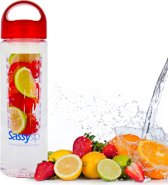SassySip Waterfles met fruitfilter - Drinkfles met Fruit filter en fruit infuser – BPA Vrij, 0,7 L