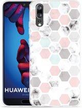 Huawei P20 Hoesje Marmer Honeycomb