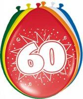 Ballonnen ster  60 jaar - 8 stuks (30 cm)