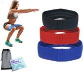 FITNESSWISE ® premium weerstandsbanden set van 4 stuks inclusief oefeningen & handige opberghoes ! Ook bekend als FITNESS ELASTIEK en FITNESSBANDEN.