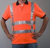 Safeworker RWS poloshirt oranje maat L, vochtregulerend