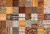 Fotobehang Wood Stone Texture | XXXL - 416cm x 254cm | 130g/m2 Vlies