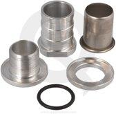 Zelf afsluitbare fitting 25 mm aluminium