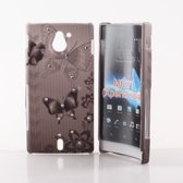 Image of Sony Xperia Sola Hard Case Hoesje - Butterfly Style (8719321036644)