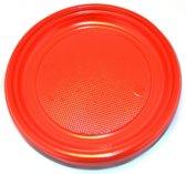 """VOORDEELPAK: 5 Pakjes van Grote rode plastic borden, 9"""" - verpakking van 30 borden"""