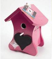 Buzzy Birds Nestkast - Vogelhuisje Krijt - Roze