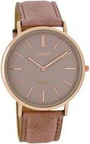 OOZOO Vintage C7332 Horloge - 40mm - Lichtbruin