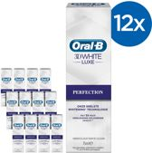 Oral B 3DWhite Luxe Perfection - Voordeelverpakking 12x75ml   - Tandpasta