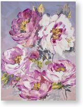 Art for the Home - Handgeschilderd Canvas Schilderij - Bloem - 60x80cm
