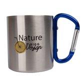 Biggdesign Nature Steel Mug   Onbreekbare beker   Fiets motief   Geschikt voor warme en koude dranken Artist Design   Gezond en milieubewust   200 ml   Met hangende handgreep