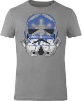 Star-Wars-T-shirt-met-korte-mouw-grijs - Maat XL