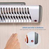 reer 19050 electrische verwarming Infrared electric space heater Binnen Grijs, Wit 500 W