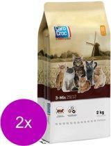 Carocroc 3-Mix - Kattenvoer - 2 x 2 kg