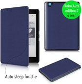 Lunso - sleepcover flip hoes - Kobo Aura edition 2 (6) - blauw