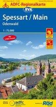 ADFC-Regionalkarte Spessart/Main/Odenwald, 1:75.000 (5.A 2018)