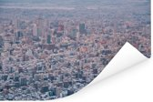 Een luchtfoto van de enorme wolkenkrabbers van Sapporo-shi Poster 180x120 cm - Foto print op Poster (wanddecoratie woonkamer / slaapkamer) / Aziatische steden Poster XXL / Groot formaat!