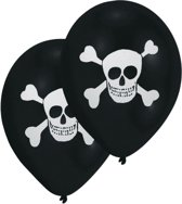 8 Latex Balloons Pirate 2 Sided Print 25.4 cm/10