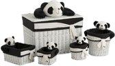 Set van 5 manden - Panda Design - J-line