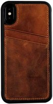 Youcase Geniune leather card back cover iPhone X/Xs Brown