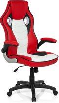 hjh office Game Zone Pro CL100 - Bureaustoel - Kunstleder - Rood / wit