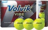 Volvik - VIBE golfbal - 12 pack - geel