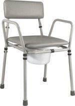 Aidapt - toiletstoel - postoel in hoogte verstelbaar - grijs