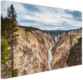 Yellowstone Verenigde Staten Canvas 180x120 cm - Foto print op Canvas schilderij (Wanddecoratie woonkamer / slaapkamer) XXL / Groot formaat!