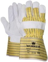 Majestic nerflederen werkhandschoenen met palmversteviging type worker 11124200 chauffeurshandschoen - professionele kwaliteit - maat XL/10