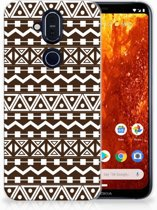 Nokia 8.1 Uniek TPU Hoesje Aztec Brown