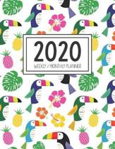 2020 Weekly Monthly Planner: Monthly Calendar - Weekly Organizer - Monday Start - Toucan Cover - January 2020 - December 2020