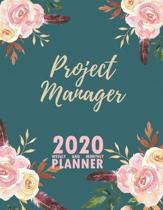 Project Manager 2020 Weekly and Monthly Planner: 2020 Planner Monthly Weekly inspirational quotes To do list to Jot Down Work Personal Office Stuffs K
