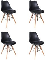 Feel Furniture - Stig designstoel set 4 - Zwart