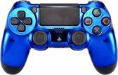 Chrome Blauw - Custom PlayStation PS4 Wireless Dualshock 4 V2 Controller