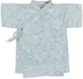 jongens Blouse Lucky Wang NY Jongens Kimono Lichtblauw met witte figuren km - LW27 - Maat 68 7091026173819