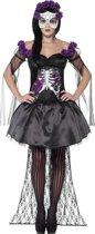 """""""Mexicaans paars skeletten Halloween kostuum voor vrouwen  - Verkleedkleding - Small"""""""